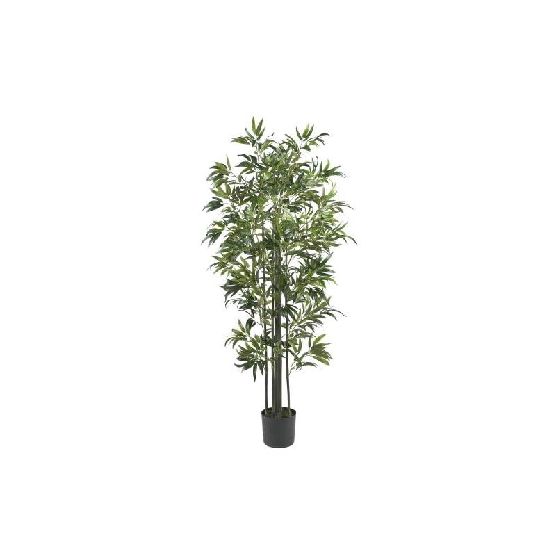 """silk flower arrangements nearly natural bamboo silk, 6-feet, green artificial tree, 72"""" x 9"""" x 9"""""""