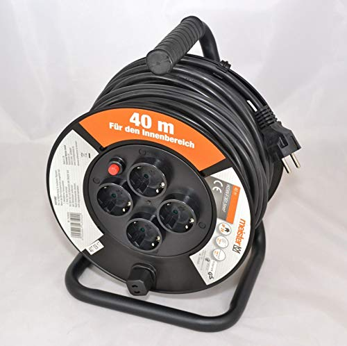 Meister H05W-F3G1 - Cable alargador (40 m, 4 enchufes, 1,5 mm², IP20)