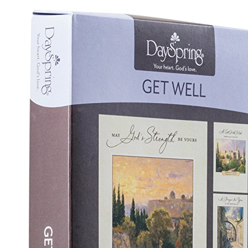 DaySpring Thomas Kinkade - Get Well - Inspirational Boxed Cards - God's Strength - 74869,Multi Color Photo #8