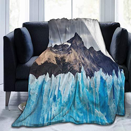 PANILUR Manta de Franela Suave,Glaciar Perito Moreno Lago Argentino Patagonia Argentina,Cama de Camping para sofá 204x153cm