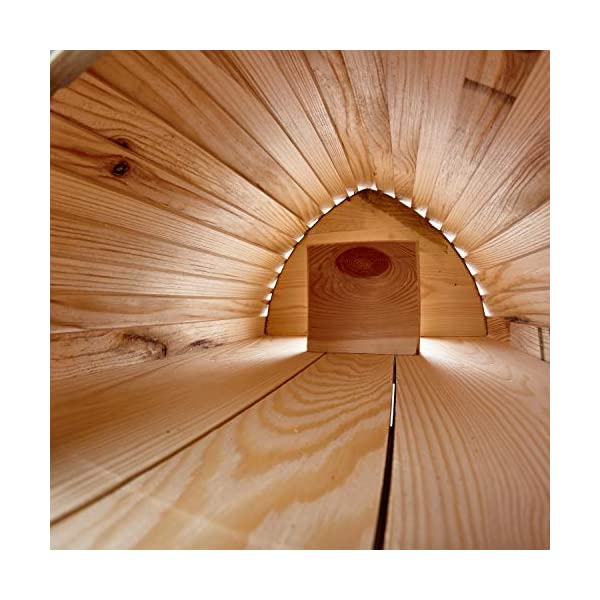 Berk Large Wooden Predator Proof Hedgehog House With Tunnel - Solid Wood Construction With Bitumen Roof - Hedgehogs Feeding Station Hibernation Shelter For Garden