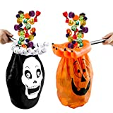 3 otters Halloween Trick or Treat Bag, 2PCS Halloween Candy Bags Halloween Goody Bags for Kids Halloween Party Supplies