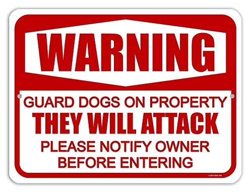 Honing Dauw Geschenken Hond Teken, Waarschuwing Garde Honden op Eigendom Metaal Aluminium Pas op voor Hond Tekenen voor Hek, Gemaakt in de VS