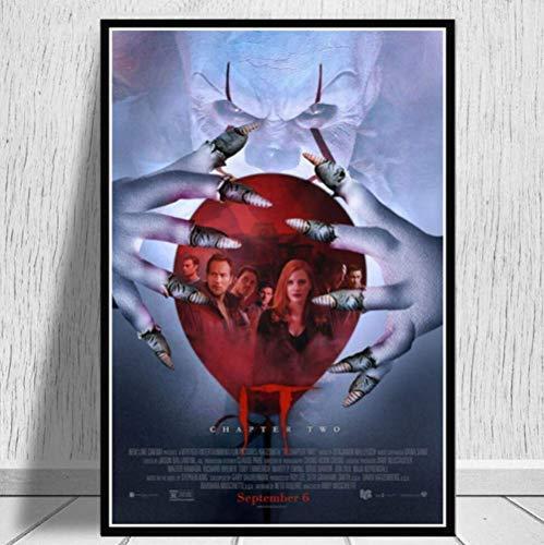 YGVXX Rompecabezas 1000 Piezas ensamblaje Picture It Chapter Pennywise Horror Movie II Art Oil para Adultos Niños Juegos Educativos