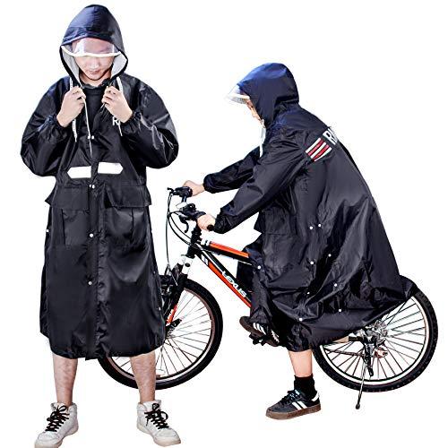 レインコート レディース メンズ 2020 魔法 レインウェア バイク 自転車 ロングレインポンチョ 雨具 超軽量 前開き雨合羽 防風防水 防塵防雪 おしゃれ 雨着 梅雨 かっぱ 通勤 通学 男女兼用 収納袋付き (XL)