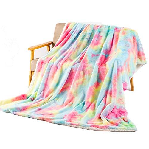 YXYH Atmungsaktiv Weich Warm Flanellvlies Decke Werfen Grobstrickdecken Gemütlich Leicht Komfort Luxus Dekorativ Zum Couch Bett Sofa Wohnzimmer (Color : D, Size : 160cmx200cm/63x79inch)