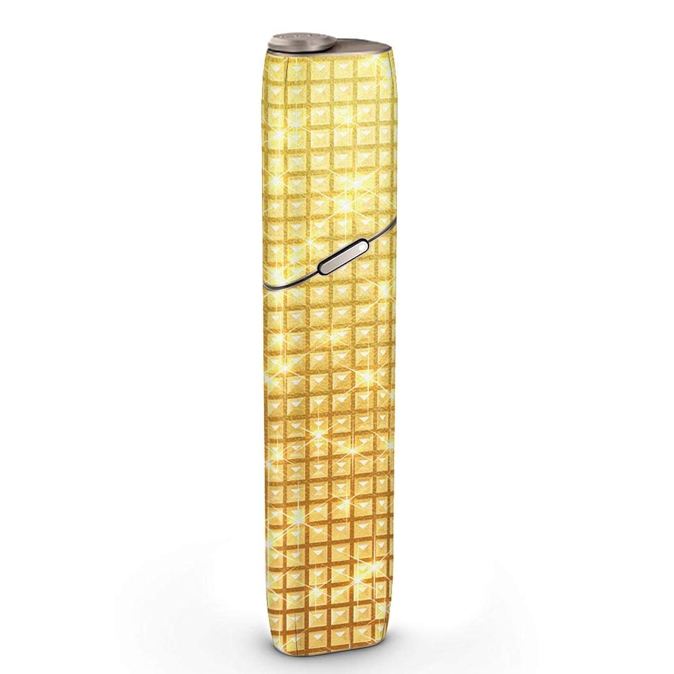 再現する顔料先例igsticker IQOS3 MULTI 専用 デザインスキンシール IQOS 3 マルチ 対応 シール IQOS 3 multi 専用スキンシール フル IQOSmulti 用アクセサリ 保護シール 002458 ラグジュアリー ゴールド シンプル