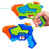 2 Pack Aqua Phaser Water Pistols Squirt Guns, Super Water Soakers Water Guns for Kids Summer Swimming Pool Beach Sand Outdoor Water Activity Fighting Play Toys