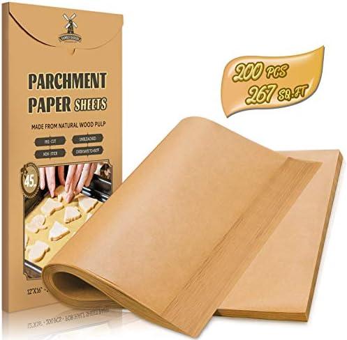Hiware 200 Piece Parchment Paper Baking Sheets 12 x 16 Inch Precut Non Stick Parchment Sheets product image
