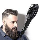 Beard Straightener Brush for Men - Quick Beard Styler Comb Ionic ElectricBeard Straightening Heat Brush For Home & Travel