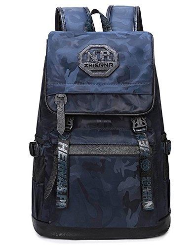 beibao shop Backpack Sacs à Dos pour Ordinateur Portable Oxford Casual Personnalité Épaules Extérieur Voyager Multi-Fonctionnel Sac à Dos d'ordinateur, Blue