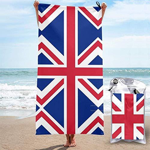 Sandfreie Badehandtücher Britische Flagge Schnelle trockene Strandtücher Badetuch Travel Strandtuch, Outdoor-Schwimmsporttuch für Frauen Männer Strandzubehör