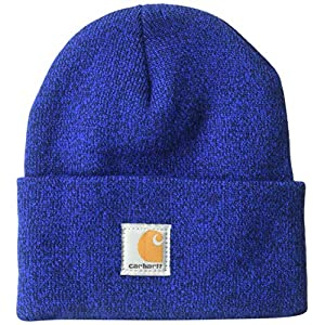 Carhartt unisex child Acrylic Watch Cold Weather Hat, Royal (Youth), One Size US
