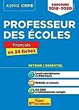 Concours Professeur des écoles (CRPE) Français en 34 fiches - Admis 2019