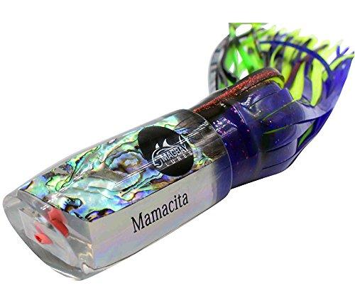 "Large 15"" Marlin Lure Mamacita - True Abalone Shell - Mahi Sailfish & Tuna"