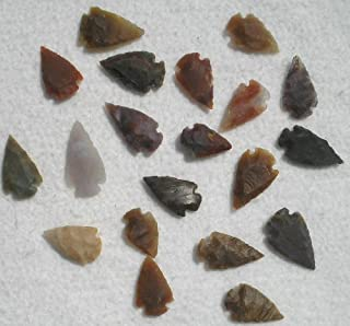 Set 25 Indian Arrowheads Agate New Replica 1/2