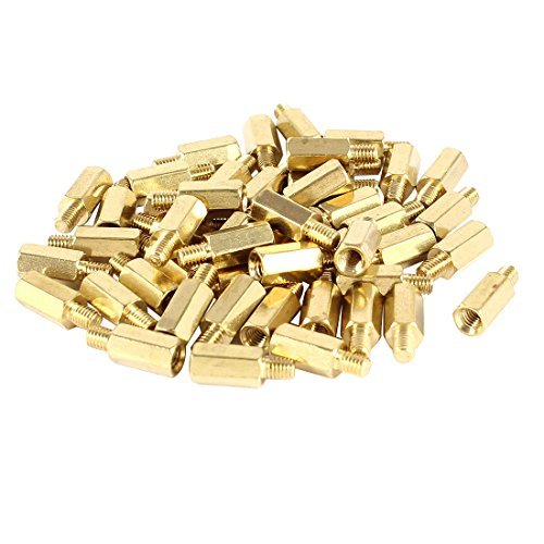 uxcell a14040700ux0339 PC PCB Motherboard Brass Standoff Hexagonal Spacer M3 9 4mm Pack of 50
