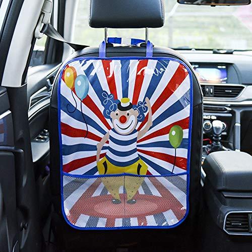 Funda de Asiento con Dibujos Animados Bonitos, Fundas de Asiento de Coche de bebé Impermeables y Coloridas duraderas, para Bolsa de Almacenamiento Universal para(Color-Clown Chair Back Bag)