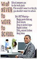 Poster 194 What Never to Wear to School Series of Dress Code Posters: On the job training posters for teens
