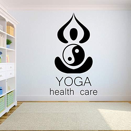 Yoga pared calcomanía Lotus pared pegatina vinilo adhesivo decorativo arte hindú embalaje PVC planta Mural pegatina de pared A3 99x57cm