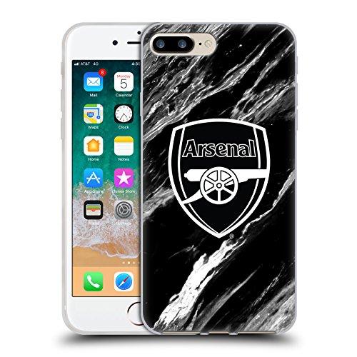 Head Case Designs Oficial Arsenal FC Mármol Patrones de Cresta Carcasa de Gel de Silicona Compatible con Apple iPhone 7 Plus/iPhone 8 Plus