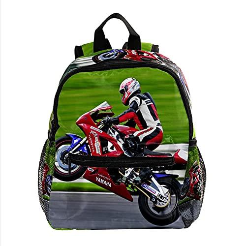 Rucksack für Kinder Motorradhelm Kinderrucksack Für 3-8 Jahre alt Mini Rucksack für den Kindergarten Vorschule 25.4x10x30 cm