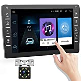 podofo Android Double Din Car Radio, 8 Inch Bluetooth 2Din Car Stereo with GPS Navigation Support FM Mirror Link Steering Wheel Control+ Backup Camera