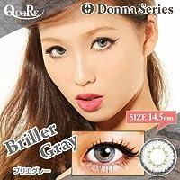 カラコン 度なし 1箱2枚入り QuoRe Donna Series/ソブレ/119131 14.0mm【BrillerGray--0.00】