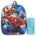 Marvel Spiderman Backpack Combo Set - Spiderman Boys 3 Piece Backpack Set - Backpack, Water Bottle and Carabina (Marvel Spiderman)