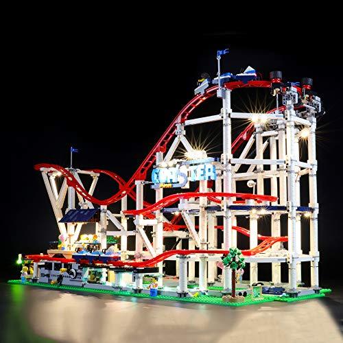 BRIKSMAX Kit di Illuminazione a LED per Lego Montagne Russe, Compatibile con Il Modello Lego 10261 Mattoncini da Costruzioni - Non Include Il Set Lego