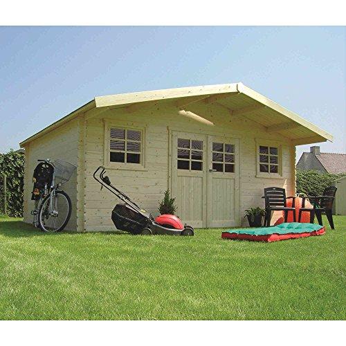 petit un compact Abri de jardin fixe supérieur en bois Montreux, 508x508x253 cm