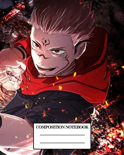 Composition Notebook: Jujutsu Kaisen Manga Glossy Cover Dot Graph Journal For Teenage Girls Boys Kids & Adults 8 x 10 Inches 110 Pages