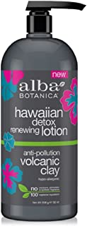 Alba Botanica Hawaiian Detox Renewing Lotion, Volcanic Clay, 32 Ounce