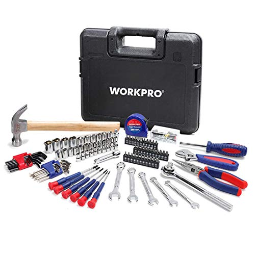 WORKPRO ツールセット 工具セット ホームツールセット ガレージツールセット 家具の組み立て&住まいのメンテナンス用 家庭用基本工具 作業工具セット 道具セット 165点セット