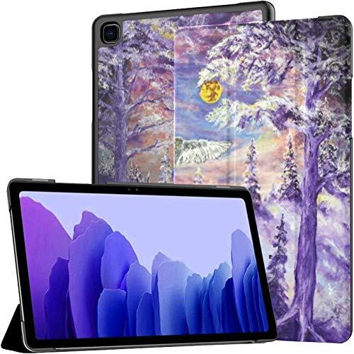 Funda para Samsung Galaxy Tab A7 Tableta de 10,4 Pulgadas 2020 (sm-t500 / t505 / t507), Mystic Forest Witch House Impresionismo Aceite Cubierta de Soporte de ángulo múltiple con activación/suspensi