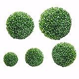 Hidyliu Bola plástica verde de la bola de la planta de la decoración del hogar al aire libre de la boda
