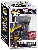 Funko Pop! Marvel Collector Corps Exclusivo Lucha Libre #711 B & W El Animal Indestructible con estuche acrílico