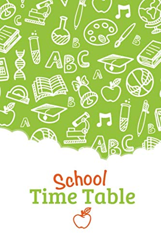 School Time Table: Colorful creative Cover | weekly Monthly Logbook | organizing Agenda | Daily planner