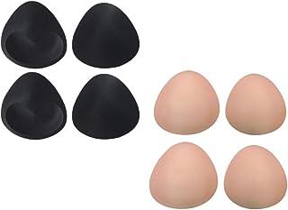 Prettyia Triangle Bra Pad 4 Pairs Inserts Push Up Foam Padded Pads Sponge Underwear