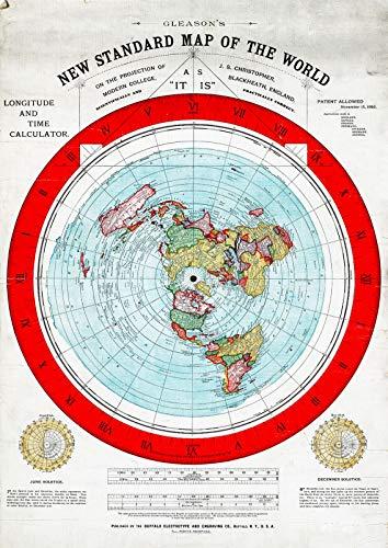 Riley Creative Solutions  1892 Flat Earth Map   Alexander Gleason's New Standard Map - World (3 Sizes) (16'x23')