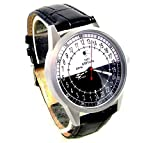 Military Sputnik Mens Wrist Watch 24 Hours Day & Night Vintage Mens Watch Original