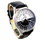 Military Sputnik Mens Wrist Watch 24 Hours Day &...