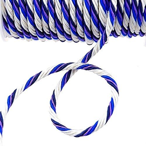 Deko und Band Cordon – Multicolore, Blanc/crème/crème/Bleu foncé/Bleu Roi de Lavande – 6 mm 11