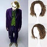 Royalvirgin - Peluca sintética para cosplay o disfraces, pelo corto y esponjoso para hombre, color verde