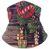 N/A Navidad Rústico Madera Viejo Noel Tiempo Calentador de cuello unisex Polaina Pasamontañas Máscara de esquí Clima frío Mascarilla Sombreros de invierno Sombreros Sombreros