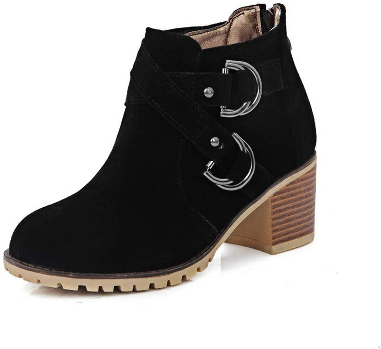 BalaMasa Womens Nubuck Casual Boots Urethane Boots ABL10721