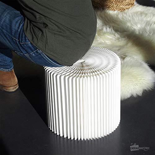 Cadeau Maestro Tabouret en Kraft Pliable 28 cm