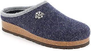 Grunland Sara CB0169 Blu Ciabatte Pantofole Donna Plantare Feltro Lana