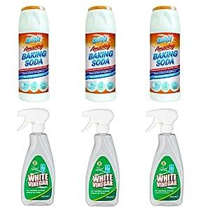 Vinagre blanco y soda para la limpieza – 3 x Duzzit bicarbonato Sodio 3 x vinagre blanco spray para limpieza