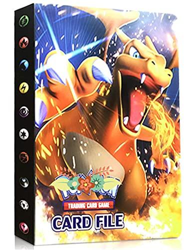 Album Compatible Con Pokemon, Album Compatible Con Pokemon Para Cartas, Álbum de Pokemon, Carpeta compatible con Cartas Pokemon, Album compatible con Cartas de Pokemon(Charizard)